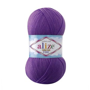 Włóczka Alize Cotton Gold Fine 44 purpurowy