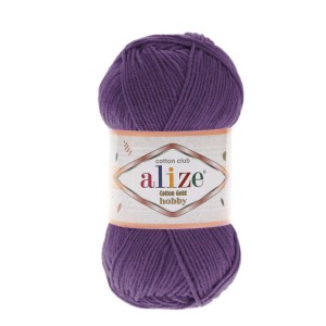 Alize Cotton Gold Hobby 44 purpurowy