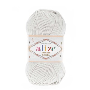 Alize Cotton Gold Hobby 533 pastelowy szary