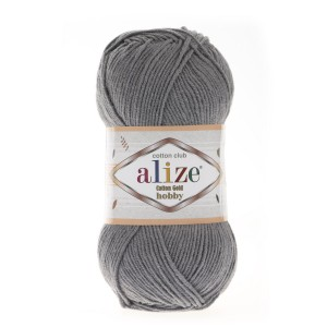 Alize Cotton Gold Hobby 87 szary