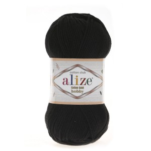 Alize Cotton Gold Hobby 60 czarny