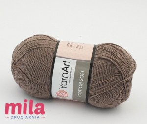 Yarn Art Cotton Soft 71 mleczny brąz