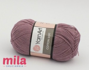 Yarn Art Cotton Soft 65 brudny róż