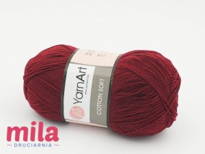 Yarn Art Cotton Soft 66 bordowy