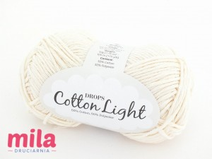 DROPS Cotton Light 01 ecru