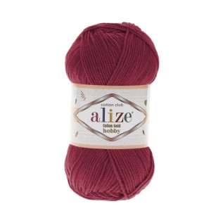 Alize Cotton Gold Hobby 390 wiśniowy