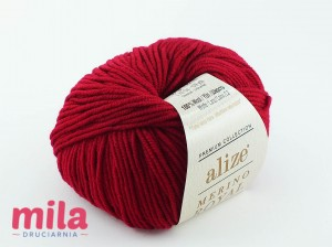 Merino Royal 390 malinowy